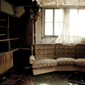 Fire Damage in Living Room